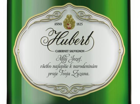 Spoločnosť Hubert J.E. prináša zákazníkom sekt sosobnou etiketou