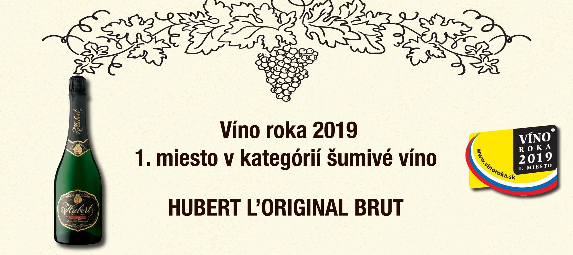 Hubert L'Original Brut – Víno roka 2019