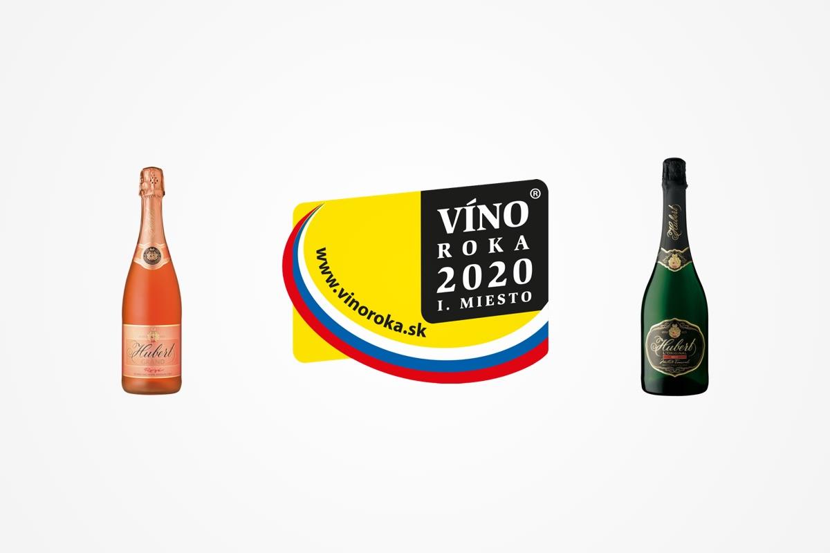 Vínom roka 2020 sa vkategórii šumivé víno stal Hubert Grand rosé